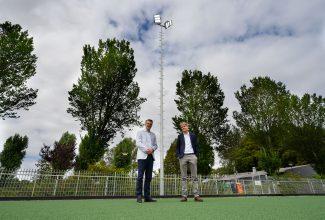 Directeur van Sportstroom Robert den Oude met Pieter